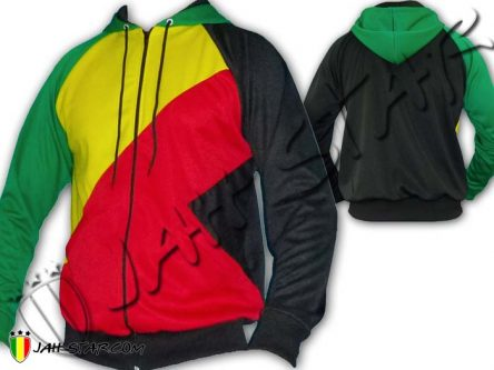 Chaqueta Con Capucha Rasta Africa 3 color Bob Marley Jah Star Wear J112