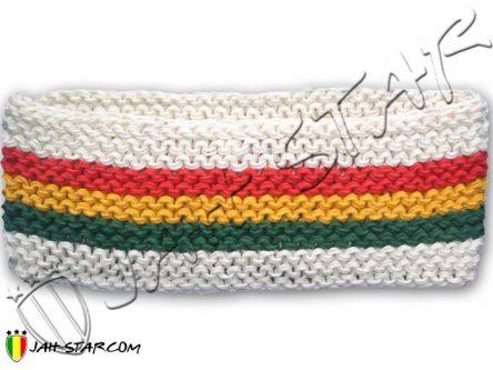 Diadema Rasta Jamaica Dreadlocks 3 Stripes blanco A140W