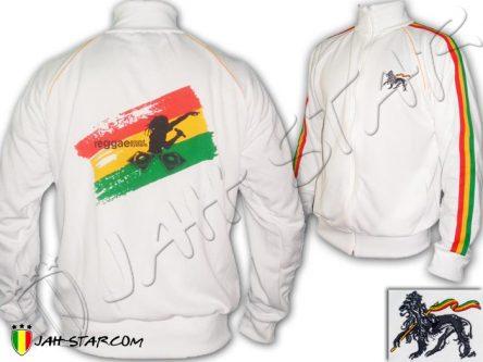 Veste Reggae Roots DJ Sound System Jamaicain Jamaique Blanc JB338W