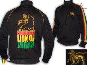 Veste Rasta Conquering Lion of Judah Ethiopia Noir JB299B