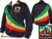 Veste Doublé Rasta Reggae Bob Marley Soul Rebel Logo Brodé OJ125