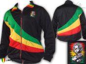 Veste Doublé Reggae Bob Marley Rasta Baby Africa Logo Brodé OJ135