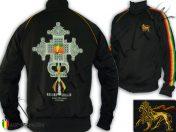 Veste Rasta Reggae Haile Selassie I the First Croix Orthodoxe JB438B