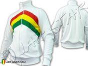 Veste Reggae Rasta Roots Soldat de Jah Blanc J115W