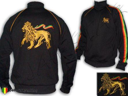 Chaqueta Rasta Reggae Conquering Lion of Judah Negro JB150B