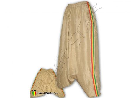 Rasta Harem Pant Stripe Green Yellow Red Brown