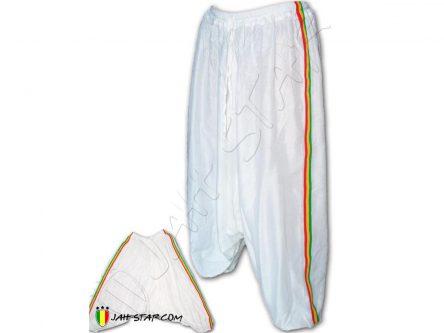 pant sarouel harem Jah star wear rasta white AP100W
