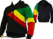 Jacket Hoodie Reggae Rasta 3 Couleurs Bob Marley Black J116B 1