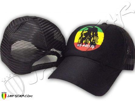Bob Marley Cap Portrait Circle Rasta color C520
