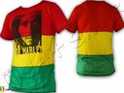 Tee Shirt Bob Marley Rasta Colors TS700B